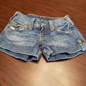 True Religion Jess Jean Shorts